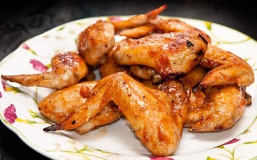 alitas de pollo sin grasa