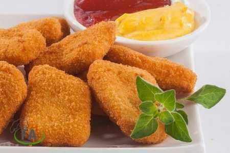 pollo empanizado nugget freidora sin aceite