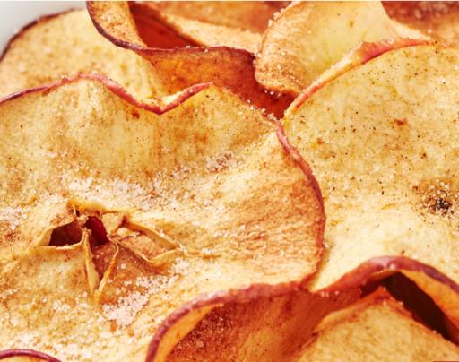 Chips de Manzana en freidora sin aceite