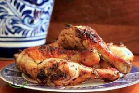 muslos de pollo picantes en freidora sin aceite