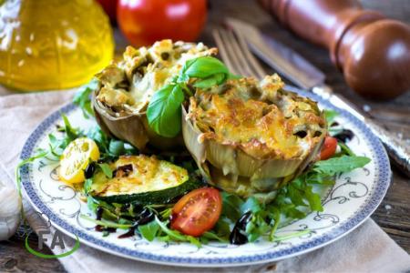 Receta de Alcachofas al horno con queso
