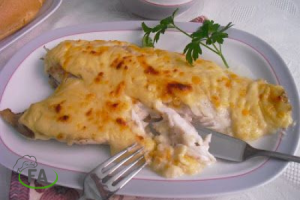 receta de mero al horno gratinado