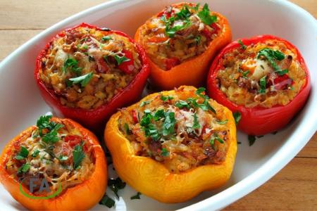 receta de pimientos rellenos de carne picada al horno